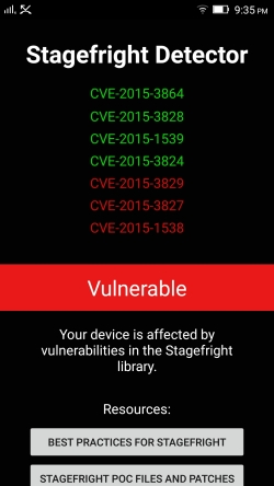 NOT Vulnerable to CVE-2015-3864